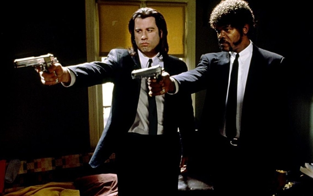 Above: John Travolta and Samuel L. Jackson in Quentin Tarantino's 'Pulp Fiction'