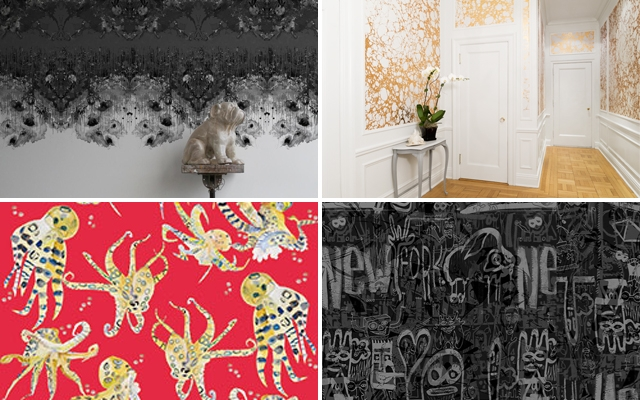 Above: There are new wall coverings that are a much more interesting alternative to paint