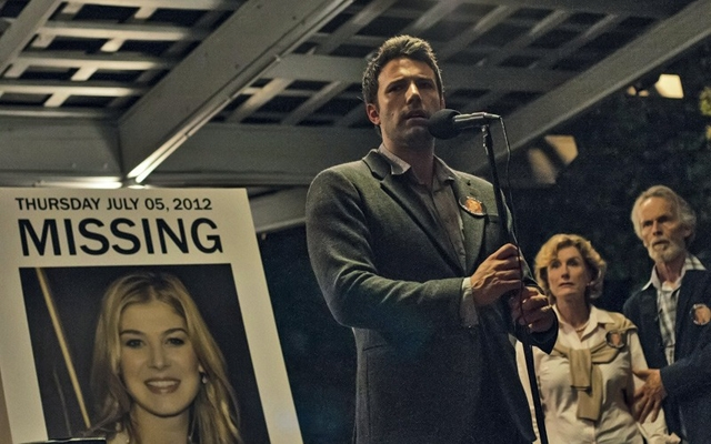 Above: Ben Affleck stars in David Fincher's 'Gone Girl'