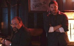 Above:  James Gandolfini and Tom Hardy in 'The Drop'