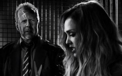 Above: Bruce Willis and Jessica Alba star in Frank Miller's 'Sin City: A Dame To Kill For'