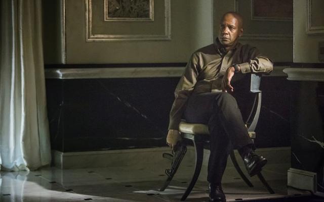 Above: Denzel Washington in 'The Equalizer'