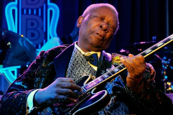 Above: Blues legend B.B. King has died at age 89 in Las Vegas