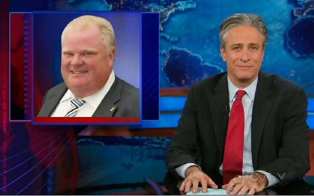 Jon Stewart smiles, shakes his head at Toronto's guiding spirit