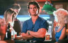 Above: A Hollywood remake of the 1989 Patrick Swayze action film 'Road House' is on the way