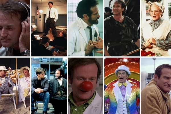 Above: A few of Robin Williams' most memorable roles