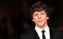 Above: American actor and playwright Jesse Eisenberg