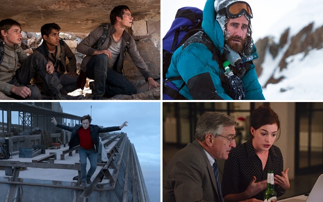 Above (clockwise): The Maze Runner: Scorch Trials, Everest, The Intern and The Walk all hit theatres this September