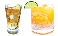 Above: Reserve Ginger Highball and a Rum Punch
