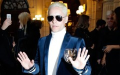 Above: Jared Leto has joined the platinum-blond club once again