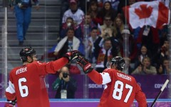 Above: Team Canada beat Norway 3-1 in Sochi Olympics hockey debut