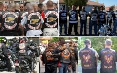 Sons in real life (clockwise): Hells Angels, Mongols, Sons of Silence, Bandidos and Warlocks