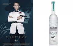 Above: 'Spectre' partners with Belvedere Vodka, changes James Bond's signature drink to a dirty martini