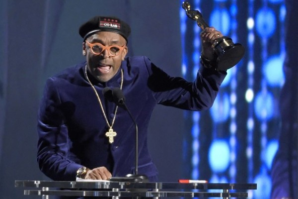 Above: Spike Lee called for diversity on Saturday night as he accepted a lifetime achievement Oscar during the Academy of Motion Picture Arts and Sciences' 7th annual Governors Awards