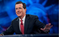 Above: Stephen Colbert, currently the host of The Colbert Report on The Comedy Network