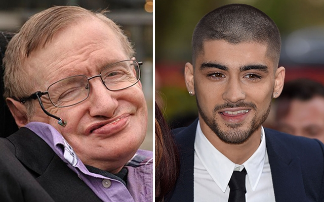 Above: Stephen Hawking gives One Direction fans advice