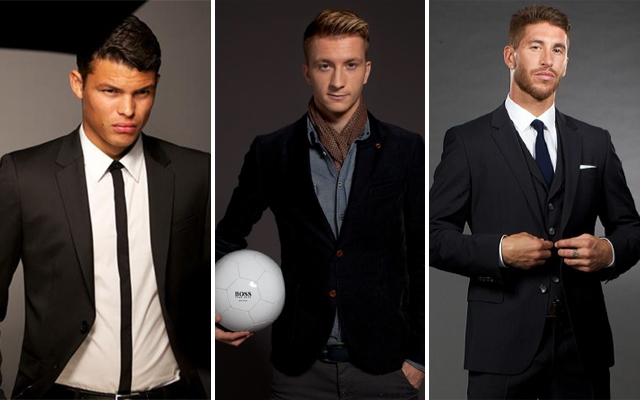 Above (L-R):Thiago Silva, Marco Reus And Sergio Ramos