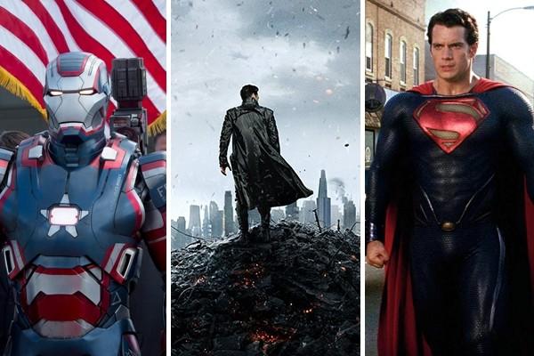 Above: Stills from summer 2013 blockbusters: Iron Man 3, Star Trek Into Darkness and Man of Steel