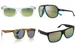 Above, clockwise: Trendy sunglasses for 2014 from Ray-Ban, Nike, Topman and Aldo