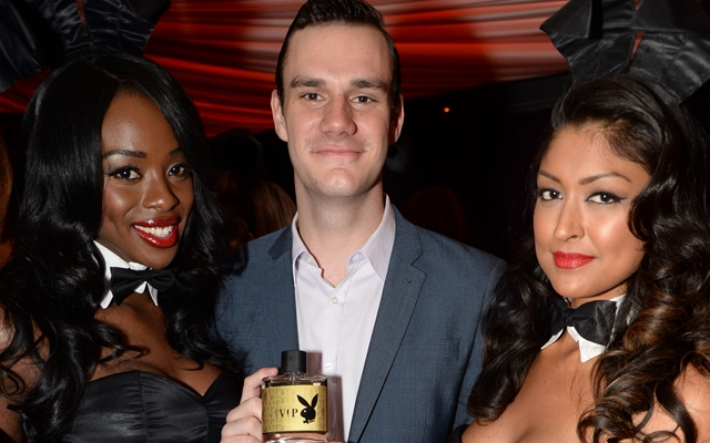 Above: Cooper Hefner at the 60th anniversary party for Playboy in London, England