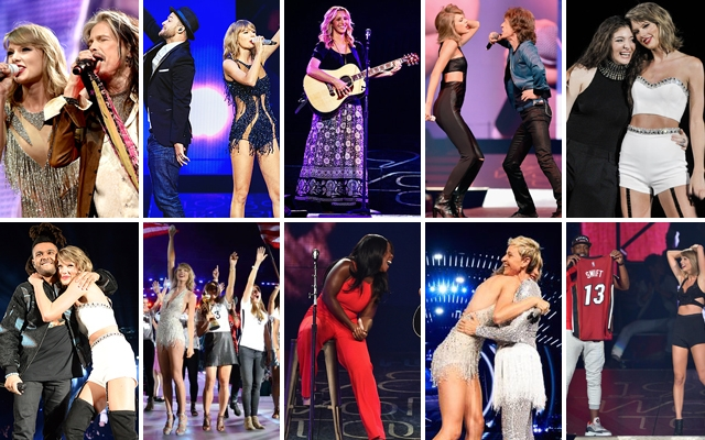 """Above: 10 of our favourite """"special guests"""" that have made an appearance during the North American leg of Taylor Swift's 1989 World Tour"""