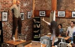 'Telekinetic' girl terrifies customers in Carrie prank (Screencap: YouTube)