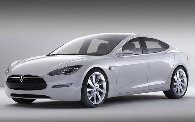 Above: Tesla's electric Model S