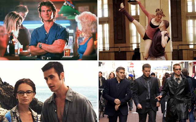 Above (clockwise): Road House, Step Up, Ocean's 12 and She's All That top our list of bad movies we absolutely love