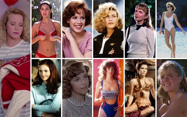 Above: Just a few of our favourite '80s movie crushes