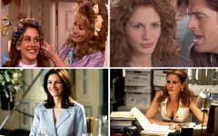 Above (top): Steel Magnolias, My Best Friend's Wedding / Above (bottom): Notting Hill,  Erin Brockovich