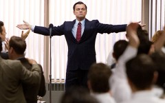 Above: Leonardo DiCaprio as Jordan Belfort in Martin Scorsese's 'The Wolf of Wall Street'