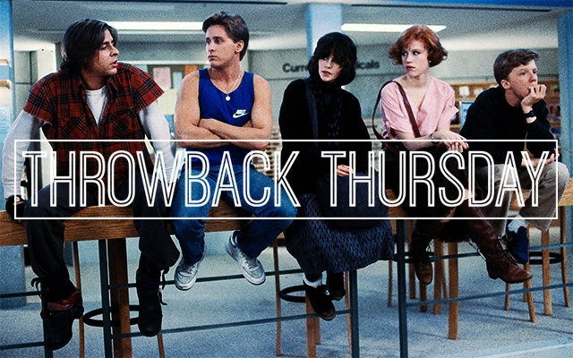 Above: Judd Nelson, Emilio Estevez, Ally Sheedy, Molly Ringwald and Anthony Michael Hall in 'The Breakfast Club'