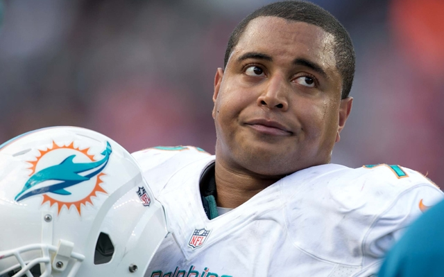 Above: Miami Dolphins offensive lineman Jonathan Martin