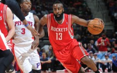 Above: James Harden of the Houston Rockets