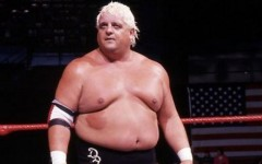 """Above: WWE superstar Dusty Rhodes -- famously known as """"The American Dream"""" -- has died at age 69"""