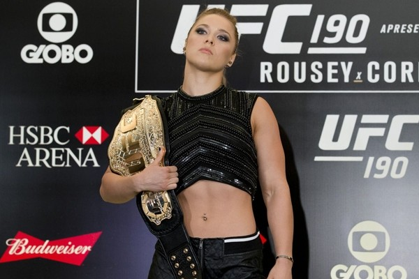 Above: Undefeated UFC women's bantamweight champion Ronda Rousey (Photo Credit: Esther Lin/MMA Fighting)