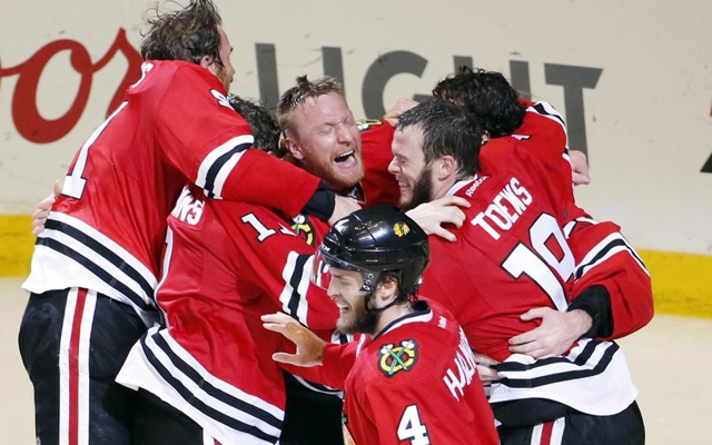 Above: The Chicago Blackhawks beat the Tampa Bay Lightning in Game 6 of the NHL hockey Stanley Cup Final series on Monday June 15
