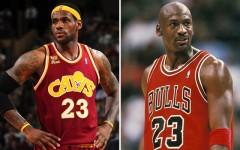 Above: LeBron James vs. Michael Jordan