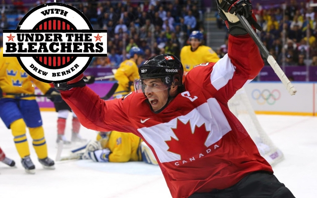 Above: Team Canada's Sidney Crosby celebrates as Canada defeats Sweden to win men's Olympic hockey gold in Sochi