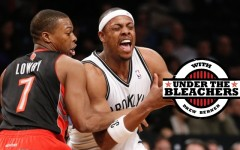 Above: Toronto Raptors guard Kyle Lowry and Brooklyn Nets forward Paul Pierce, on January 27, 2014, in New York (Photo: AP)