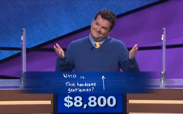 Above: Ari Voukydis gives the best Final Jeopardy answer ever