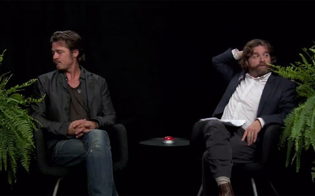 Above: Brad Pitt sits down with Zach Galifianakis for his second most memorable interview yet