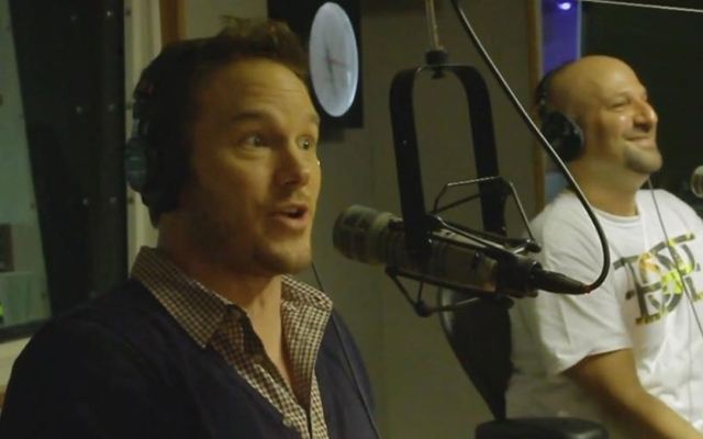 Above: Chris Pratt showed off his rap skills during a recent radio interview