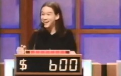 Joseph Gordon-Levitt on Jeopardy in 1997 (Screencap courtesy of: YouTube)