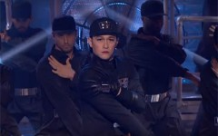 Above: Joseph Gordon-Levitt went full-on 'Rhythm Nation'