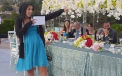 Maid of honour Jennifer Gabrielli showing off her mad rapping skills (Screen capture: YouTube)