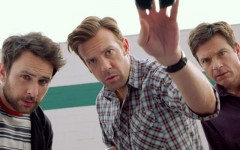 Above: Charlie Day, Jason Sudeikis and Jason Bateman star in 'Horrible Bosses 2'