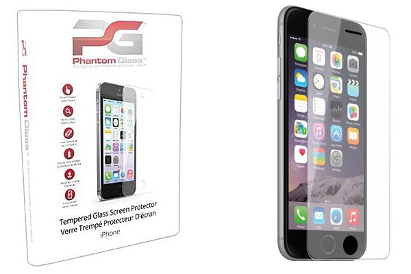 Above: Phantom Glass tempered glass screen protector for the iPhone