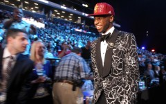 Above: Andrew Wiggins enters the NBA in style