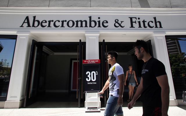 Above: During its Q2 2014 results, Abercrombie said that it will phase out its logo products by spring 2015 in an attempt to overhaul its brand image (Photo: Northfoto/Shutterstock)